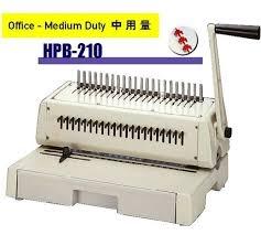 hic hpb 210 binding machine manual